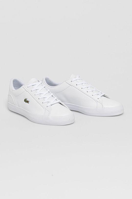 Lacoste - Buty skórzane Lerond biały