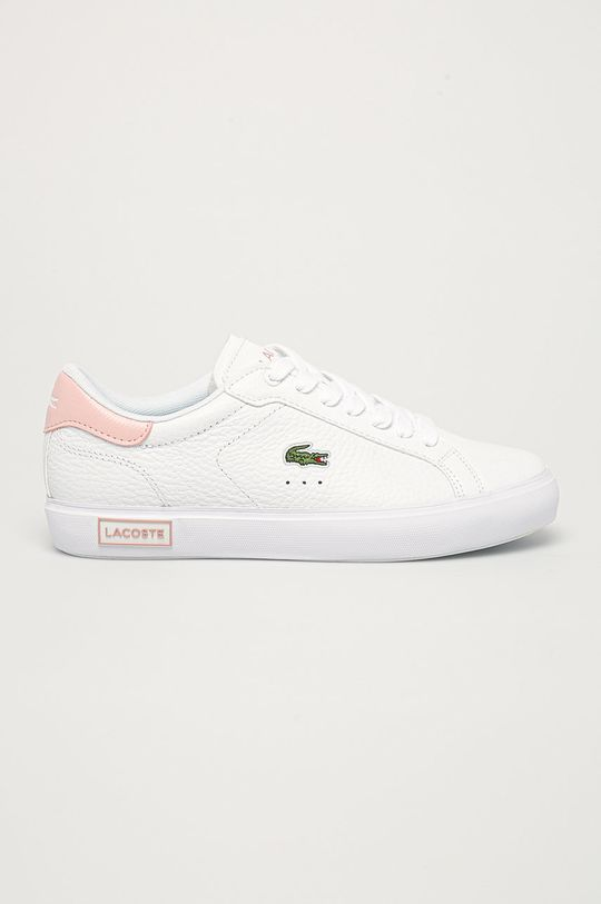 biela Lacoste - Kožená obuv Powercourt Dámsky