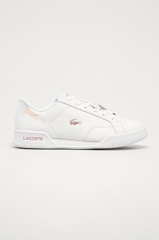 bílá Lacoste - Kožené boty Dámský