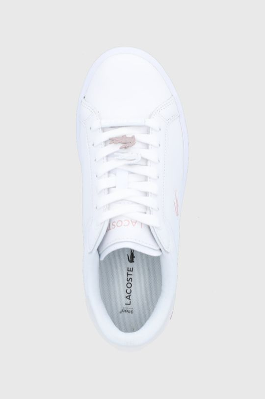 biały Lacoste - Buty skórzane