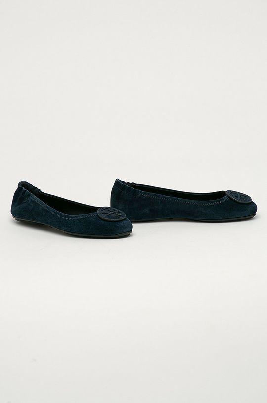 Tory Burch - Semišové baleríny námořnická modř