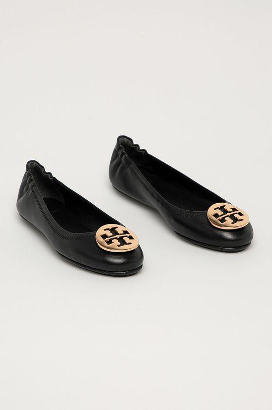 Tory Burch - Kožené baleríny černá