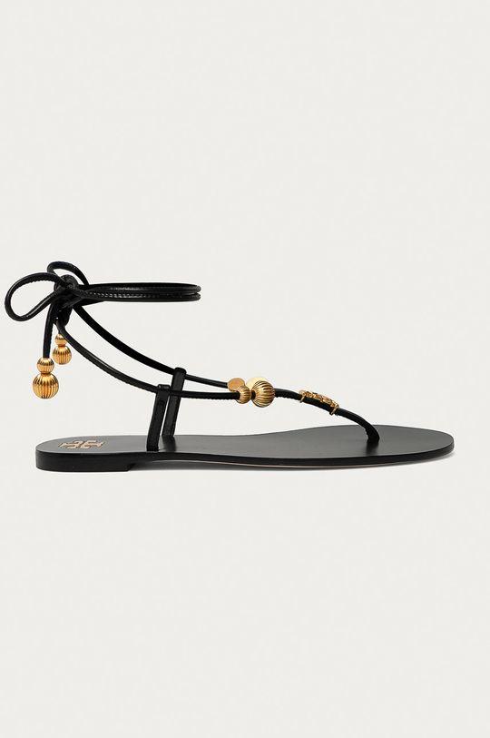 černá Tory Burch - Kožené sandály Dámský