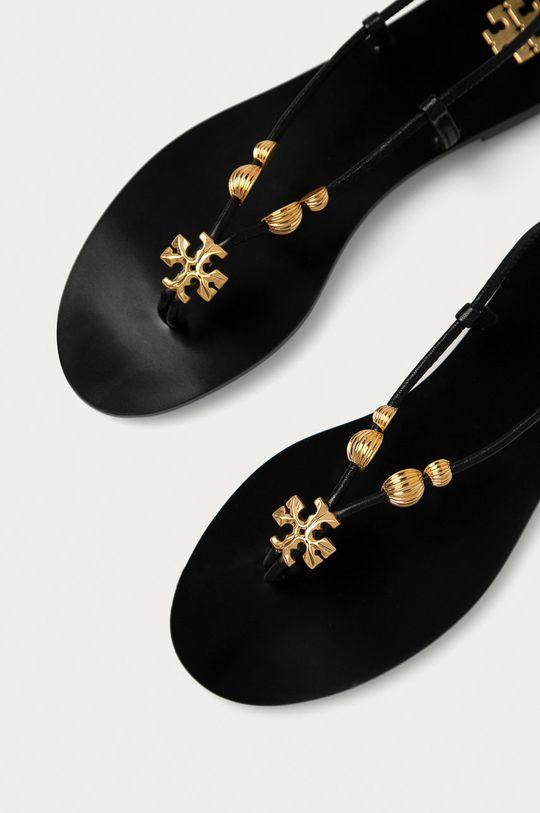 Tory Burch - Kožené sandály černá