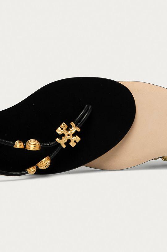 černá Tory Burch - Kožené sandály