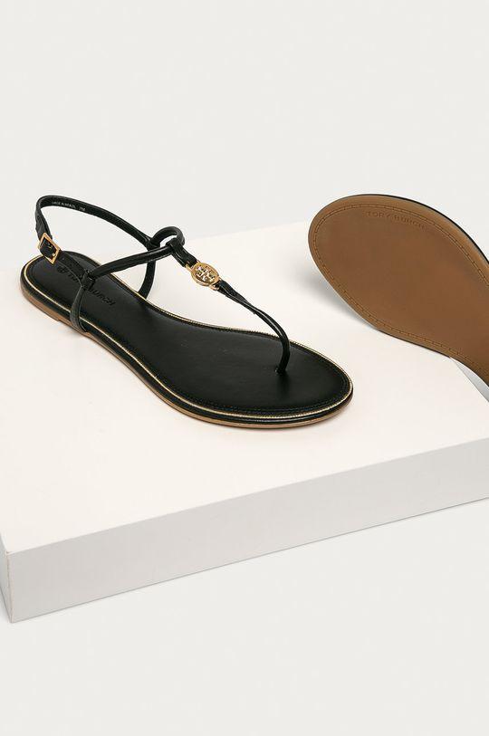 czarny Tory Burch - Sandały skórzane