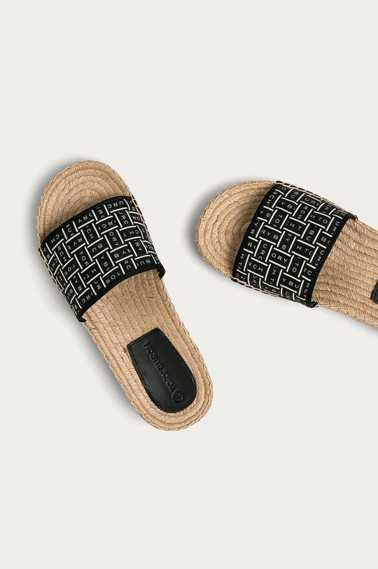 Tory Burch - Pantofle  Svršek: Textilní materiál Vnitřek: Textilní materiál, Přírodní kůže Podrážka: Umělá hmota