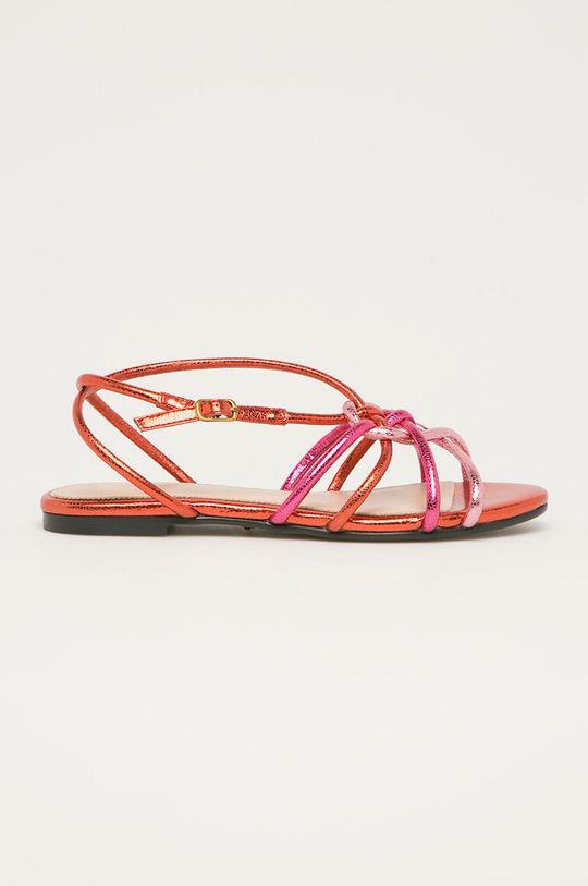 ružová Marciano Guess - Kožené sandále Dámsky