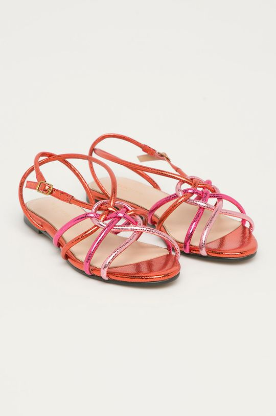 Marciano Guess - Kožené sandále ružová