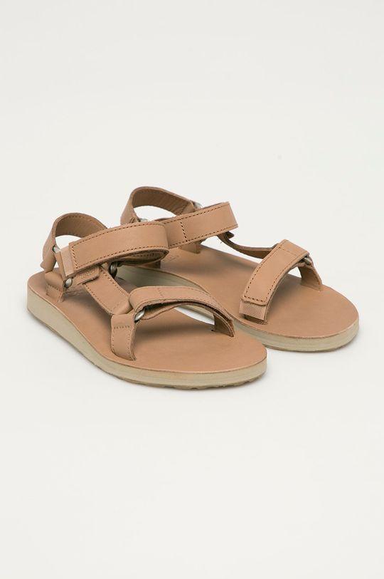 Teva - Kožené sandály béžová
