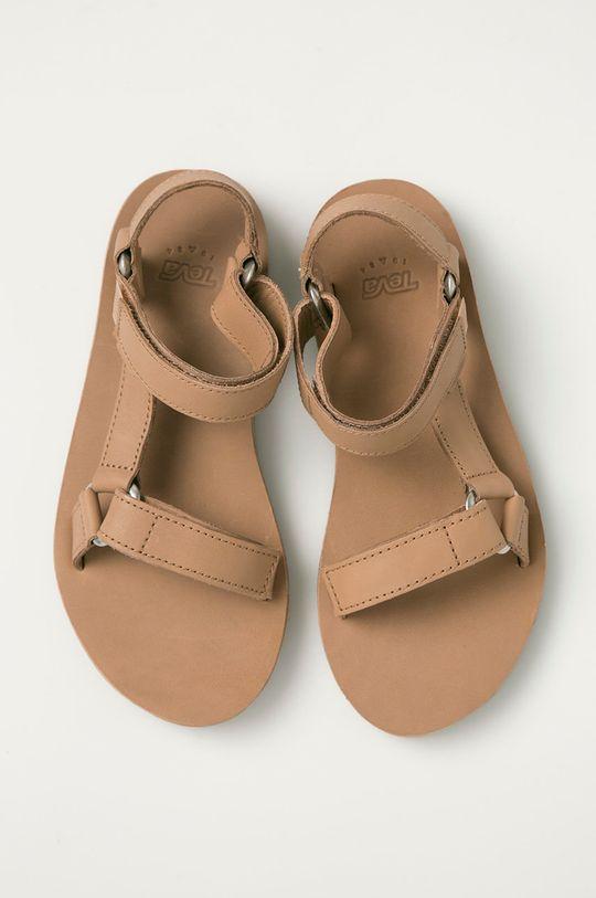 béžová Teva - Kožené sandály