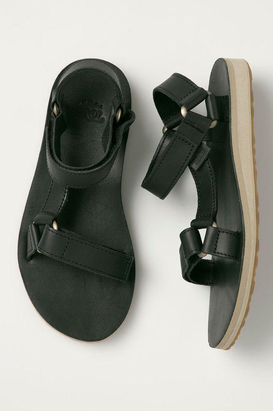 černá Teva - Kožené sandály