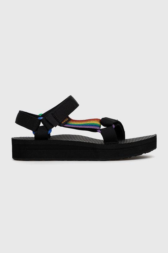 čierna Teva - Sandále Dámsky