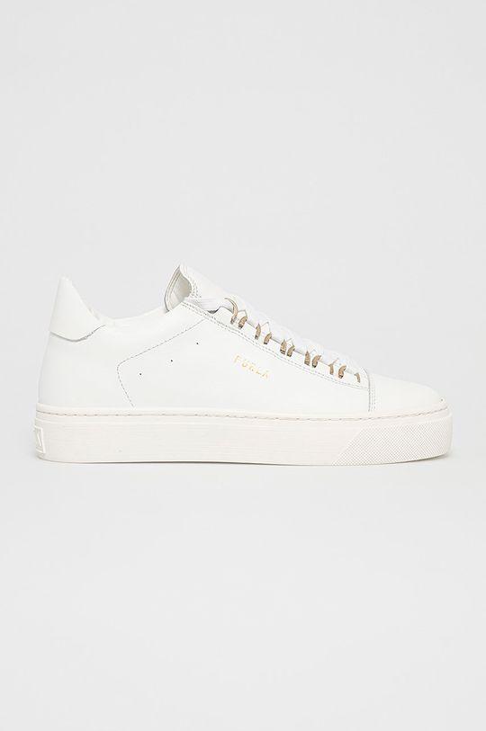 bílá Furla - Kožené boty Hikaia Dámský