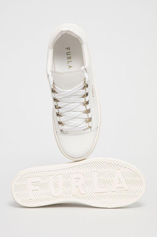 bílá Furla - Kožené boty Hikaia