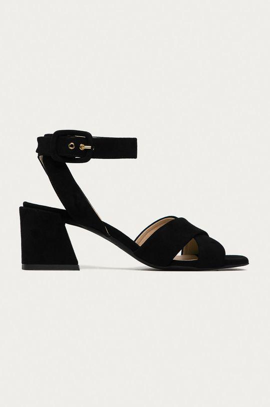 černá Furla - Semišové sandály Cross Dámský