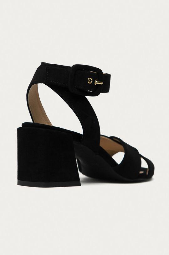 Furla - Semišové sandály Cross černá