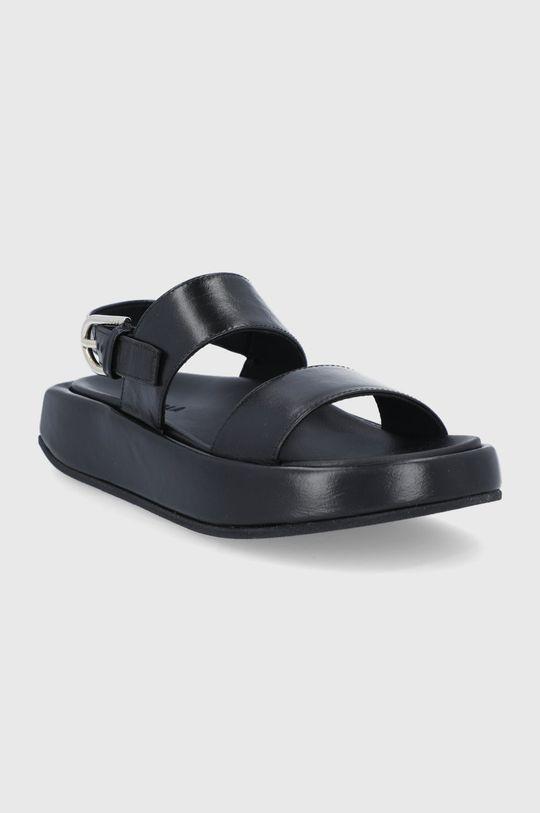 Furla - Sandały skórzane Vernice czarny