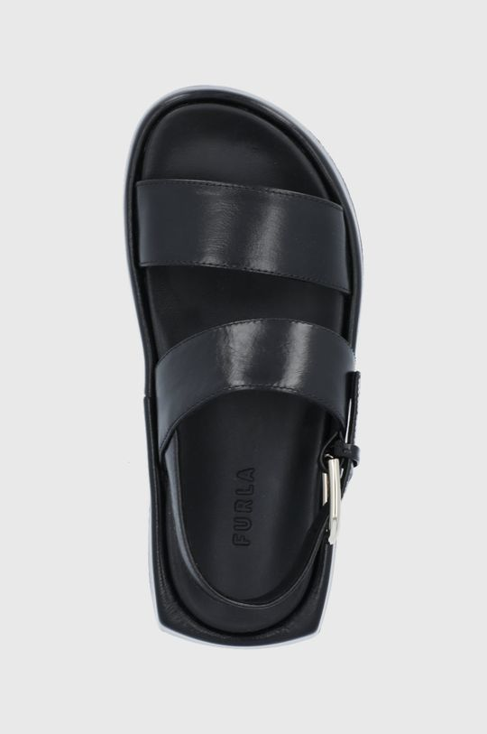 czarny Furla - Sandały skórzane Vernice