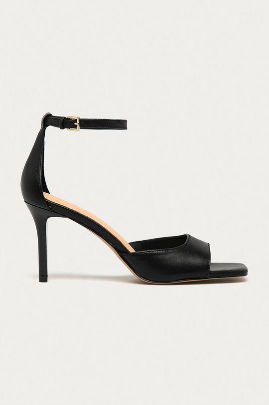 černá Aldo - Kožené sandály Asteama Dámský