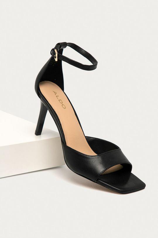 Aldo - Kožené sandály Asteama černá