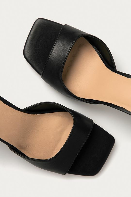 černá Aldo - Kožené sandály Asteama