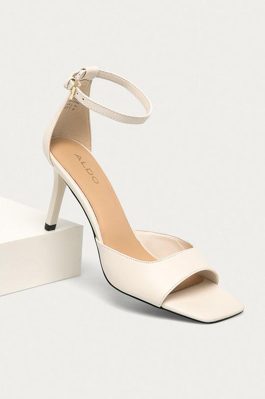 Aldo - Kožené sandály Asteama bílá