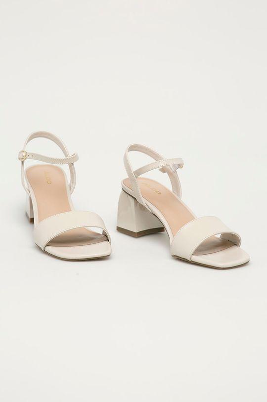 Aldo - Sandały skórzane GLEAWIA biały