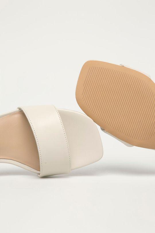 biały Aldo - Sandały skórzane GLEAWIA