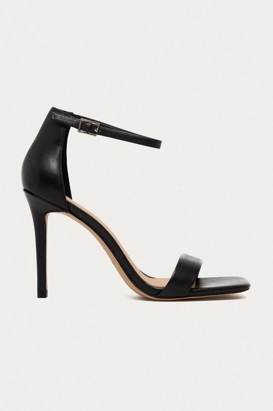 čierna Aldo - Kožené sandále AFENDAVEN Dámsky