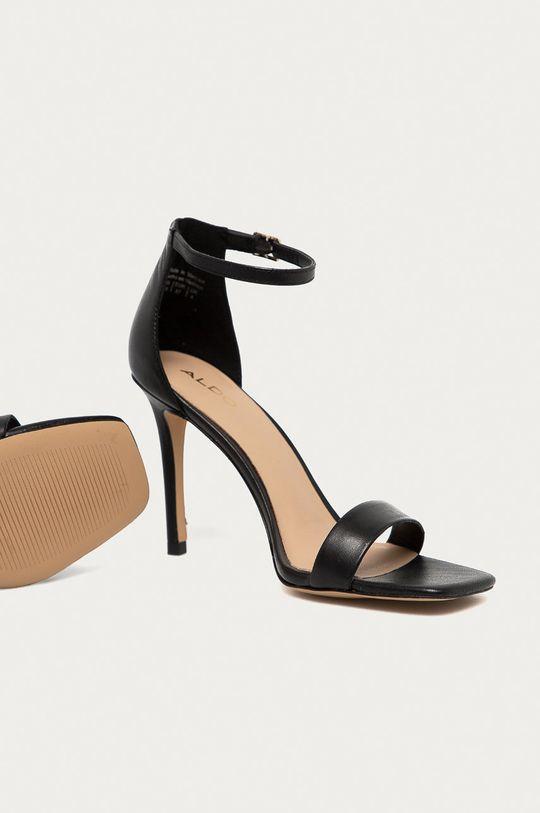 Aldo - Kožené sandále AFENDAVEN čierna