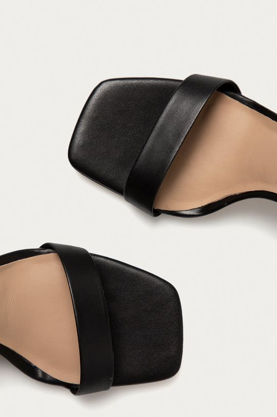 čierna Aldo - Kožené sandále AFENDAVEN