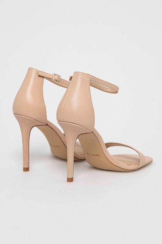 Aldo - Kožené sandále Afendaven  Zvršok: Prírodná koža Podrážka: Syntetická látka