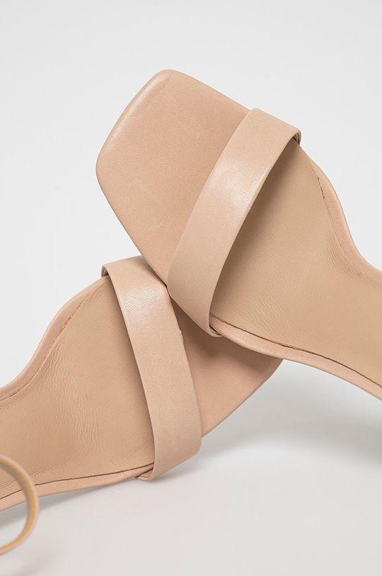 krémová Aldo - Kožené sandále Afendaven
