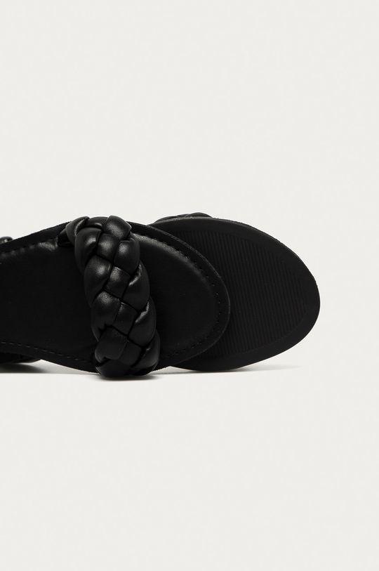 czarny Aldo - Sandały skórzane Onerran