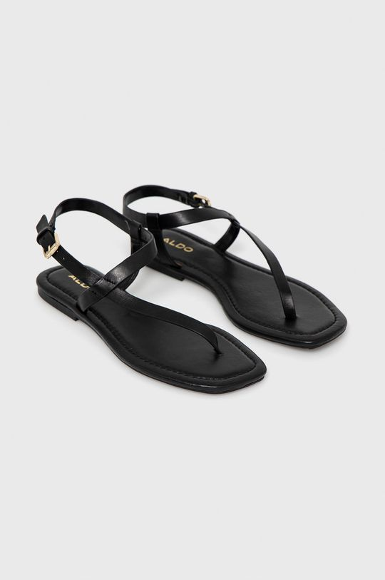 Aldo - Sandały skórzane czarny