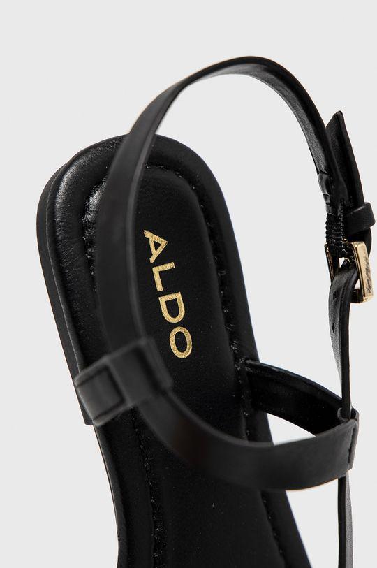 czarny Aldo - Sandały skórzane