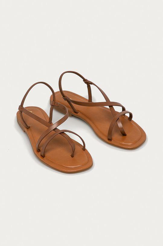 Aldo - Sandále Broasa hnedá
