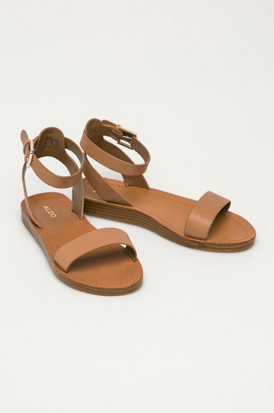 Aldo - Kožené sandály Kaderedia hnědá