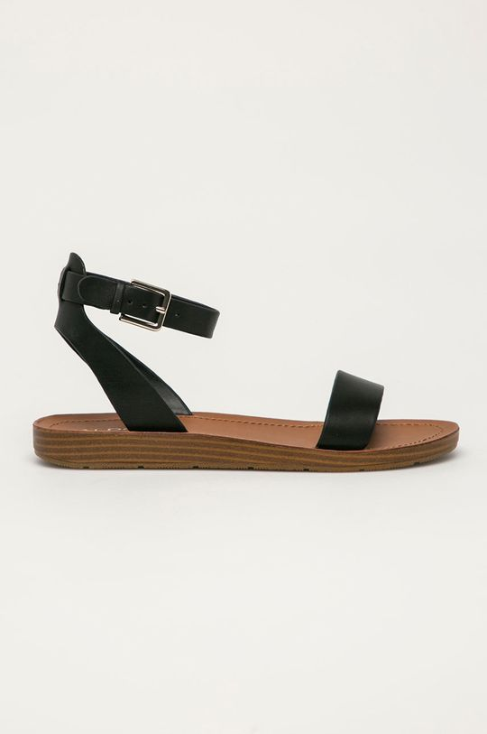 černá Aldo - Kožené sandály Kedaredia Dámský