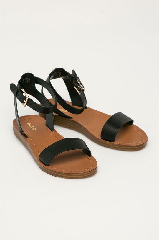 Aldo - Kožené sandály Kedaredia černá