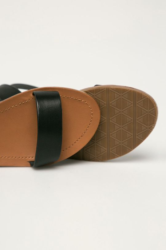 černá Aldo - Kožené sandály Kedaredia