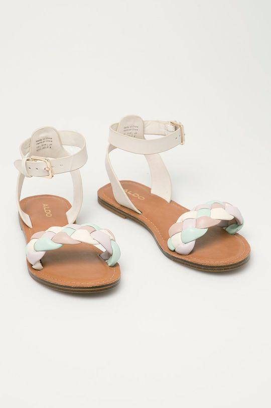 Aldo - Kožené sandály Onerran bílá