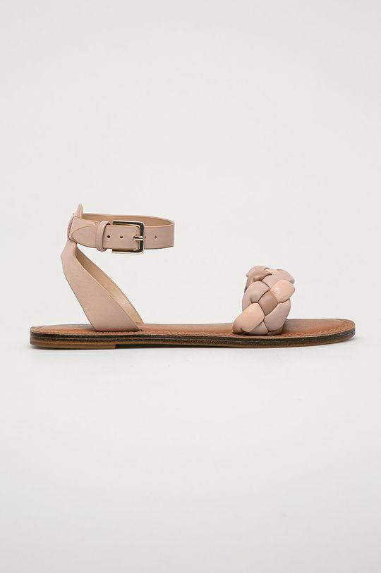 pastelově růžová Aldo - Kožené sandály Onerran Dámský