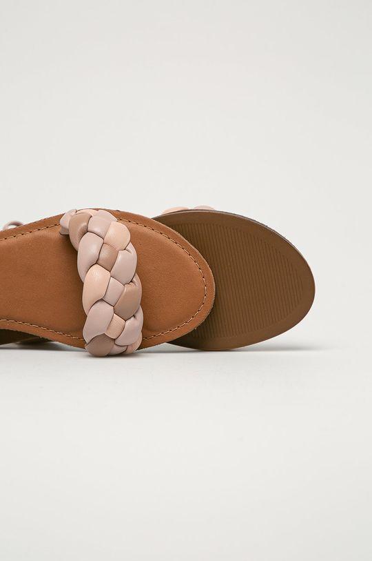 pastelově růžová Aldo - Kožené sandály Onerran