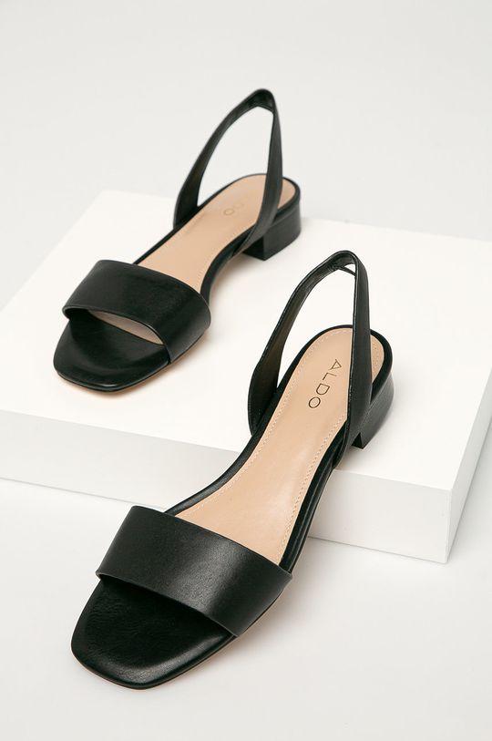 černá Aldo - Kožené sandály DOREDDA