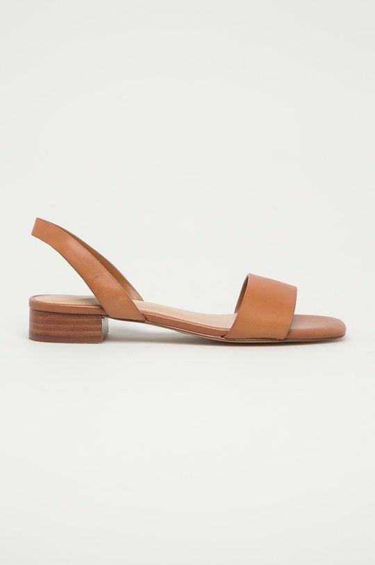 zlatohnědá Aldo - Kožené sandály DOREDDA Dámský