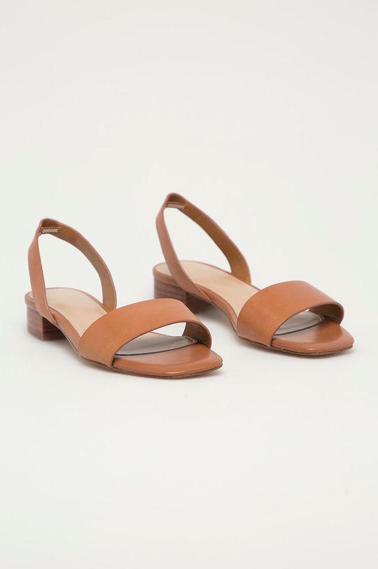 Aldo - Kožené sandály DOREDDA zlatohnědá