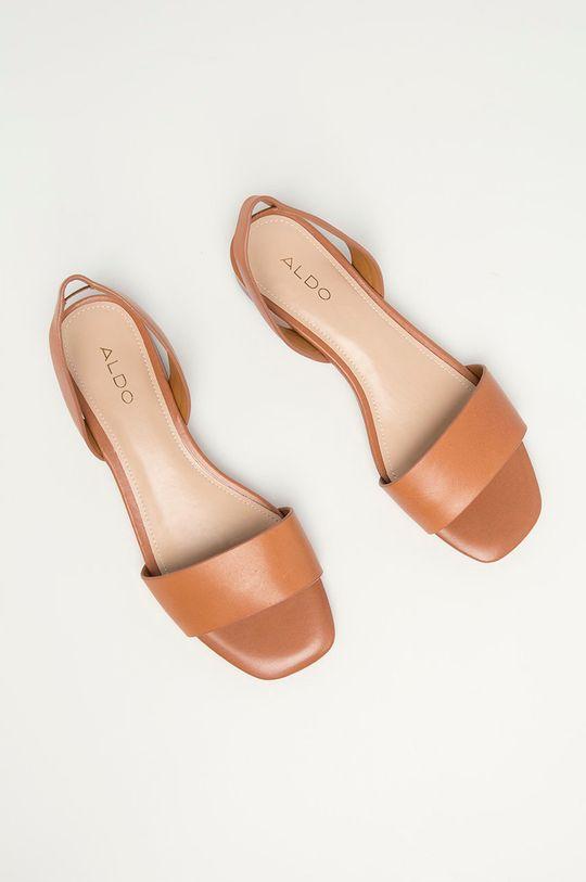 zlatohnědá Aldo - Kožené sandály DOREDDA
