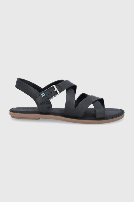 czarny Toms - Sandały skórzane Sicily Damski
